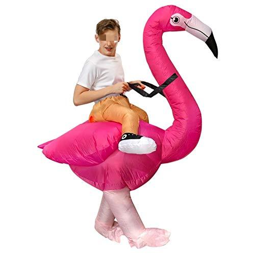 XCAYBH Disfraz inflable de flamenco, carnaval, cosplay, Halloween, disfraz de mascota para adulto (color: 1154, talla: talla única)
