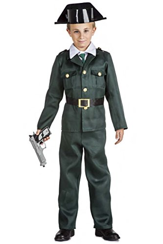 Kimokawaii Disfraz Guardia Civil Talla 5-6 AÑOS TAMAÑO Infantil