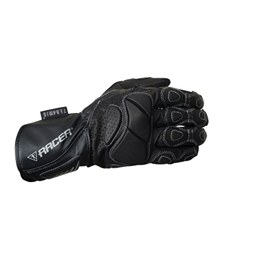 RACER 6326-3 Summer Fit Guantes Moto Señoras, Negro