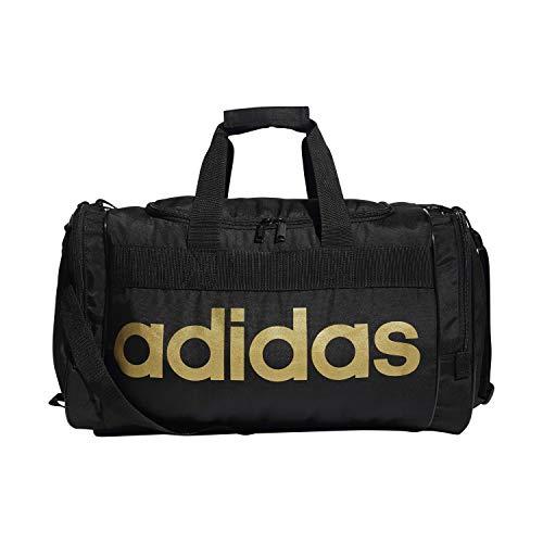 adidas Unisex Santiago Duffel Bag, Black/Gold, ONE SIZE
