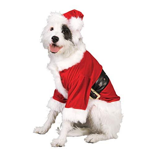 Rubie's, costume ufficiale per cani di Babbo Natale, vestito per animali domestici, taglia S