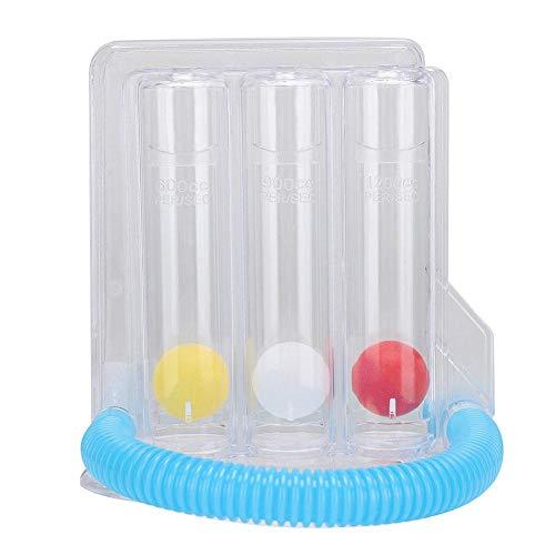 Ejercitador de pulmón de respiración profunda Espirómetro de incentivo de 3 bolas Espirómetro de incentivo Sistema de medición de la respiración(Type A 3 Ball Single Suction)