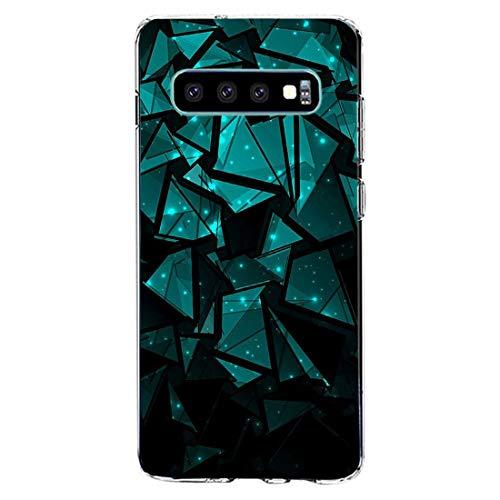 kkkie kompatibel mit Galaxy S10 Hülle Transparent Silikon Case TPU Bumper für Galaxy S10 plus Schutzhülle Marmor Blumen Muster HandyHülle für Galaxy S10e (14, Galaxy S10)
