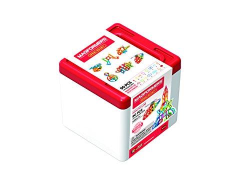 Unbekannt Magformers 70101490teiliges Magnetisches Konstruktion-Set mit Aufbewahrungsbox