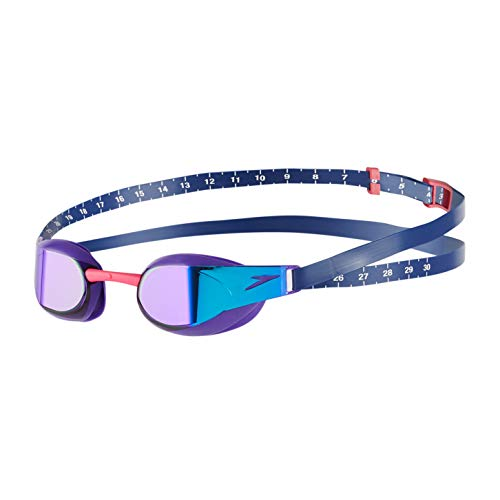 Speedo Fastskin Elite Mirror Gafas de natación, Unisex Adulto, Violeta/Azul Espejo, One Size