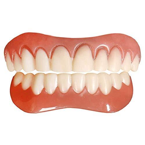 Tacohan Quick Zahnersatz Zähne Oberkiefer und Unterkiefer Provisorischer Zaehne Zahnprothese Ober und Unterkiefer, Reparieren Sie schnell Ihre Zähnen
