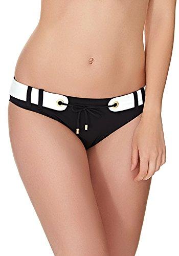 Bikini Slip in Schwarz mit Gürtel Look At Me (Hose) - 34