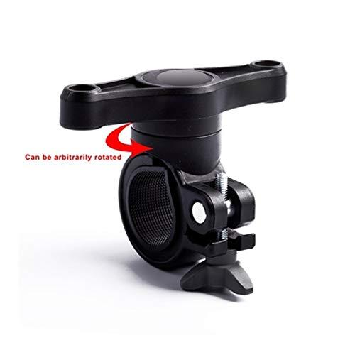 Yubingqin Soporte giratorio para extensión de hervidor de bicicleta, adaptador de jaula de botella de agua para manillar de bicicleta (color: negro)