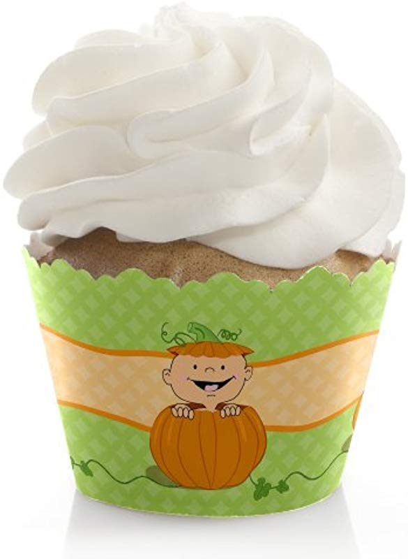 Little Pumpkin Fall Baby Shower Or Birthday Party Decorations Party Cupcake Wrappers Set Of 12