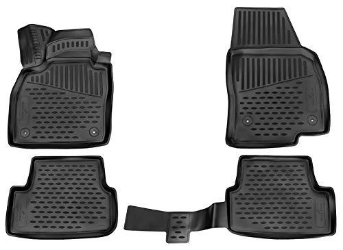 Walser Alfombrillas de Goma a Medida XTR compatibles con VW Polo Vi año 2017 - Hoy, Alfombrilla Coche, Protector de Suelo Coche