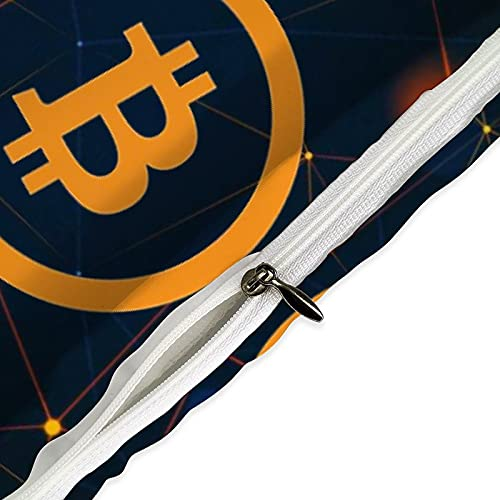 Bitcoin Bitcoin Bitcoin Home Bedding Comforters & Sets of 3 is Soft Comfortable and Breathable 1 Quilt Cover and 2 Pillowcases for Adult and Child