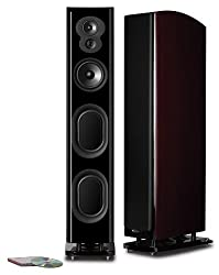 affodable Polk Audio LSiM705 Enhanced Floor Standing Tower Speakers | Dynamic Balancing Technology and PowerPort Bi-Wire and Bi-Amp | Single, Midnight Mahogany