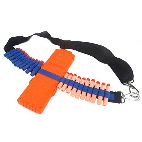 mxdmai Darts Gürtel Einstellbare Schultergurt für Spielzeugpistole Tragbarer Darts Darts-Speicher-Halter für Nerf N-Strike (schwarz und blau)