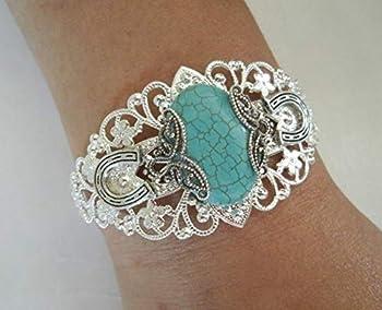 Turquoise Cuff Bracelet handmade jewelry southwestern southwest country western tribal cowgirl boho bohemian