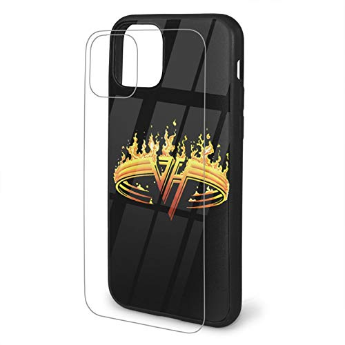 Van Halen iPhone 11 TPU Glass Phone Case iPhone 11 Case Silicone Phone Case Cover Scratch-Resistant 9h Anti-Shock Absorbing Protective Case