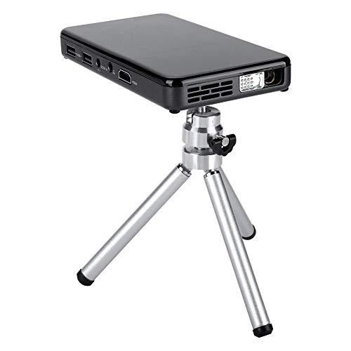 Mini proyector, proyector de Video BT 4.2 HD, proyector WiFi para teléfono Android 7.1 con trípode, proyector de películas portátil Compatible con Cine en casa 1080P(Negro)