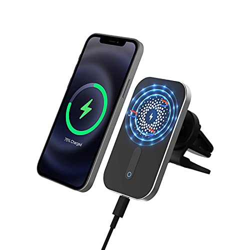 Car Mount Magnetic Wireless Charger for Apple iPhone 13/Pro/Pro Max/Mini iPhone 12/Mini/Pro/Pro Max Compatible with Magsafe Mag Safe Case