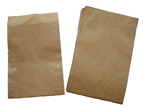 Papiertüten braun flach 11,5x16cm (400St.) von BLÜHKING®