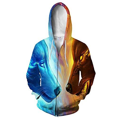 Sudadera con capucha y bolsillos con estampado 3D, diseo de estrellas