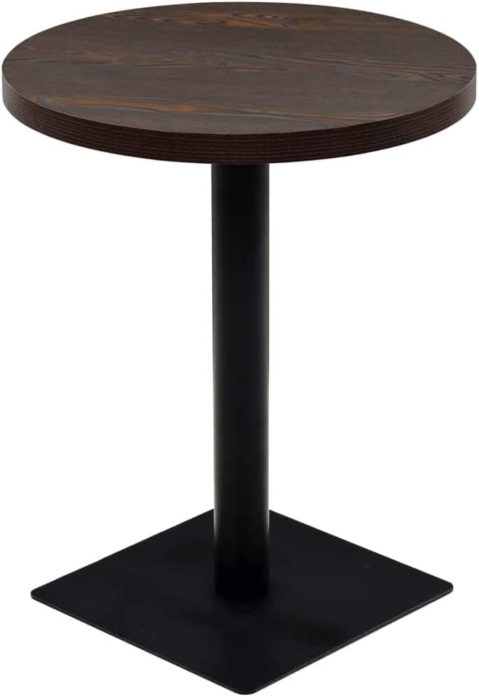 Bistro Table MDF and Steel Ash x29.5inch Challenge the lowest price Round 23.6inch Dark Sale item