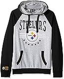 Ultra Game Men's NFL Standard Fleece Hoodie Pullover Sweatshirt University, Pittsburgh Steelers, Black, Medium