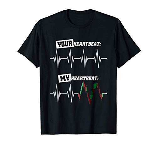 41qs7f2Fy6L. SL500  - Trader Heartbeat Your & My Heart Stock Market Forex Trading T-Shirt