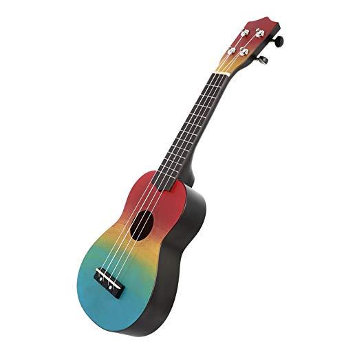 EXCEART 1 Set 21 Zoll Holz Ukulele Starter Uke Kinder Gitarre Mini Gitarre Gemalt Starter Akustische Instrument Bunte