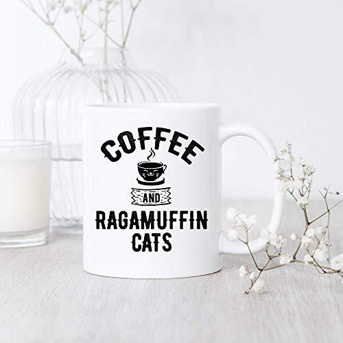 N\A Taza de café y Gatos de Ragamuffin Taza de Ragamuffin Regalo de Ragamuffin Amante de los Gatos de Ragamuffin Dueño del Gato de Ragamuffin Taza de café de Ragamuffin