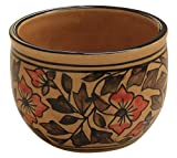 SALE 2021 - 3x4 Inch Handmade Brown Floral Pottery Ceramic Shaving Bowl for Men-Shaving Soap Cream Bowl For Shave/Portable Shaving Bowl Mug-Beautiful Gift for Dad, Grandpa By ABHANDICRAFTS