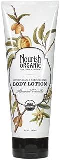 Nourish Organic Hydrating & Smoothing Body Lotion, Almond Vanilla, 8 Fluid Ounce