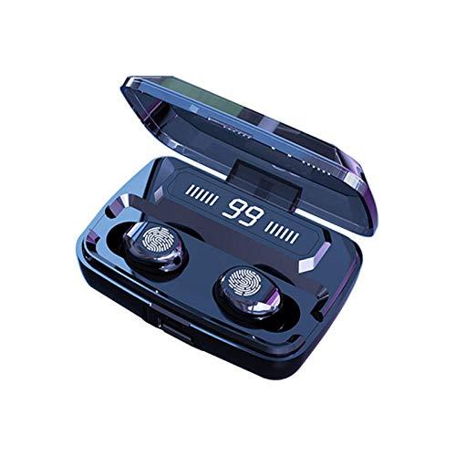 Qalabka True Wirel Earbuds,F9 Auriculares intrtivos BT con Sonido estéreo Reducción de Ruido Auriculares Deportivos Impermeables con Pantalla Digital LED Auriculares con Control táctil AUR
