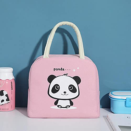 Cartoon Panda Bag Kids Women Cute Portable Travel Picnic Bags Waterproof Insulation School Breakfast Cooler Bag-Panda,Russian Federation