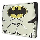 Tapis de souris Batman avec bord cousu et base en caoutchouc antidérapant durable pour ordinateur portable, bureau, maison 21,6 x 26,4 cm