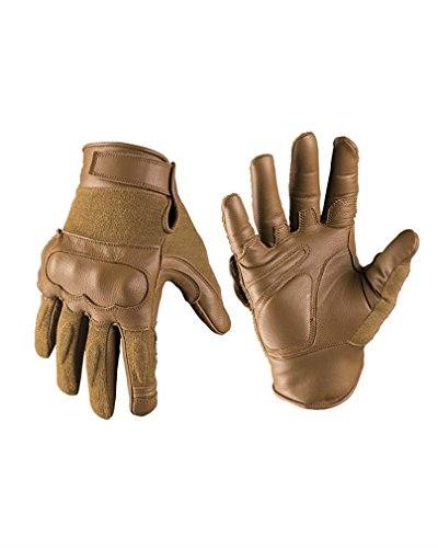 Mil-Tec Tactical Gloves Leder/Aramid Dark Coyote Gr.M