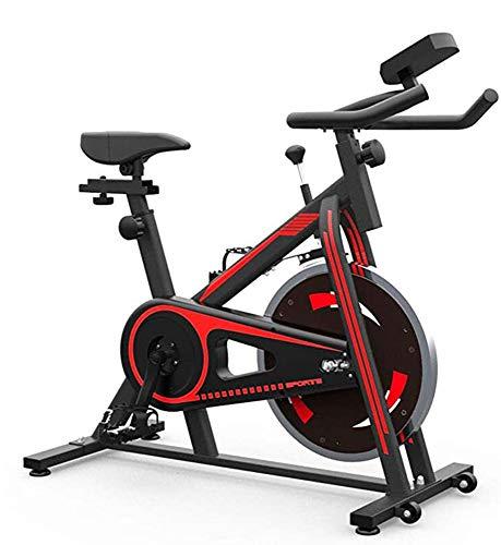 NFJ Heimtrainer,Fahrrad Fitness Bike,stufenlose Widerstandseinstellung, Einstellbarem Sitz Und Lenker, Getränkehalter Und Led-anzeige, Fitnessbike Bis 200kg Belastbar,Red