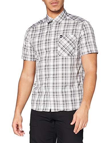 Odlo Herren Hemd Shirt s/s MYTHEN, White - odlo Graphite Grey - odlo Concrete Grey - Check, M, 592522