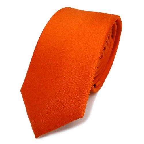 TigerTie - corbata estrecha - naranja rojo-naranja monocromo poliéster