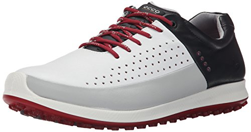 Ecco Golf Biom Hybrid 2 - Zapatos de golf para hombre, Multicolor (WHITE/CONCRETE/BLACK59394), talla 47 EU