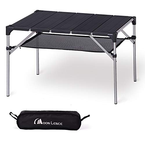 MOON LENCE Lightweight Portable Camping Table Compact Outdoor Aluminum Folding Table for Picnic Climbing
