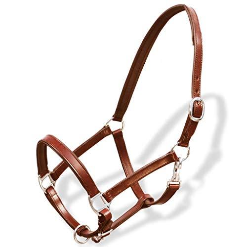 GCSEY Pelle Regolabile Equitazione Headstall Beni Durevoli Horse Halter Cavallo Briglia Equestre Cheval Accessori