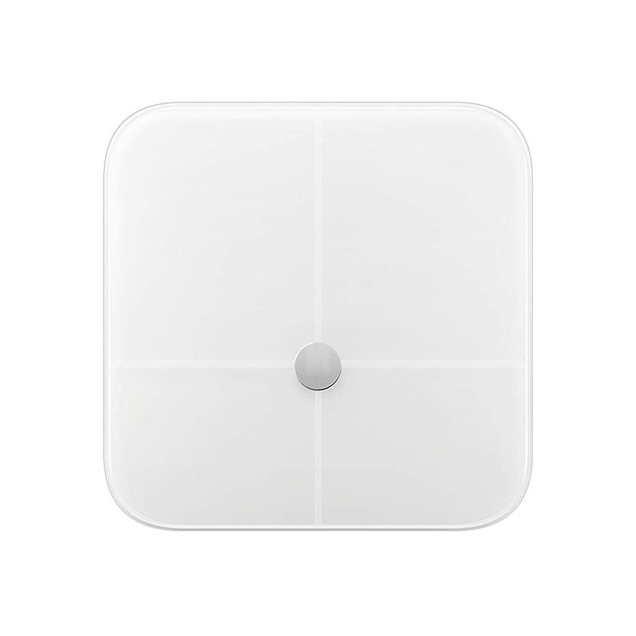 ミリメートル透けて見える終了しました緩和されたガラスプラットホーム、電子スケール200kg容量のバックライト付きディスプレイが付いている白い高精度のデジタル重量の体重計