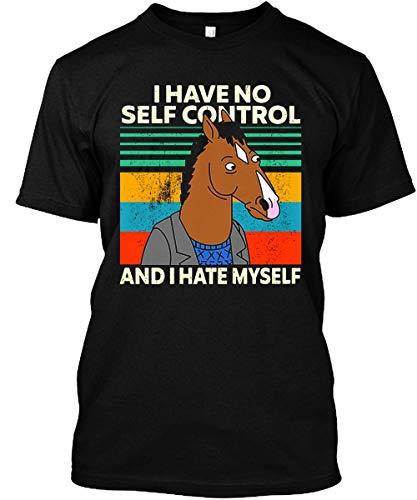 BoJack-Horseman I Have No Self Control and I Hate Myself Shirt Black