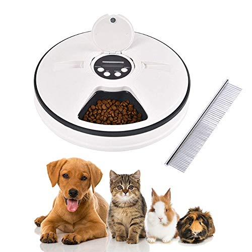 Ciotola automatica per cani con timer digitale - Dosatore di cibo e prelibatezze, fino a 6 pasti giornalieri - ottimo per cani e gatti