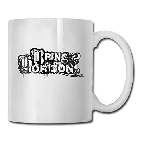 N\A Bring Me The Horizon Logo Taza de café Divertida/Taza de té/Taza Taza Taza de café Divertida Regalos Divertidos para Hombres y Mujeres