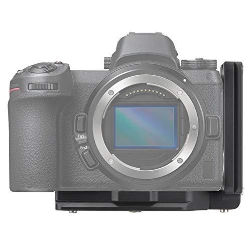 Mugast Kamera L Halterung Schnellwechselplatte, Aluminium Kamera Handgriff Vertikale Aufnahme Kamera L Platte Halterung mit 1/4 Zoll Schraubenloch für Nikon Z6 / Z7