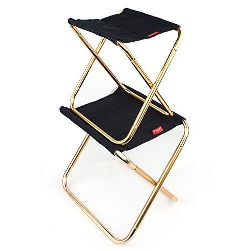 2 STÜCKE Mini Camp Hocker, Leichter Camping Hocker, Tragbare Klapp Camp Stuhl, faltbare Außenstühle für die Reise, Camping