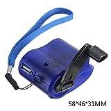 fish Portátil USB de la manivela del Cargador del teléfono de Emergencia Cargador de teléfono MP4 Mano Teléfono móvil al Aire Libre Fuente de alimentación Manual