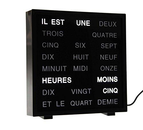 LED Wort Uhr Word Clock Tischuhr mots horloge Französisch