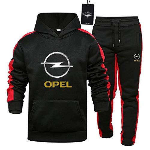 Traje De Jogging Traje De OP-El Hombre Sudadera con Capucha A Rayas + Pantalones Top,Negro,XL/X~Large