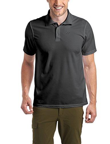 Maier Sports Herren Polo 1/2 Arm T-shirt, black, Gr. XL